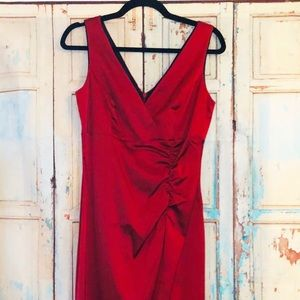 Donna Ricco sexy Maroon cocktail dress